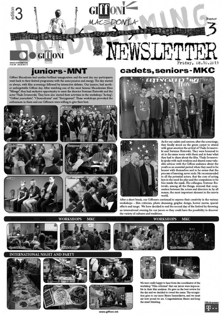 NEWSLETTER #3
